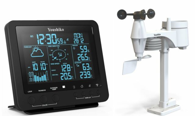 Weather station with MSF Radio Control Clock ( UK version ) Indoor / Outdoor