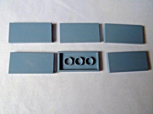 NEW LEGO PART 87079 SAND BLUE 2 x 4 TILE x 6