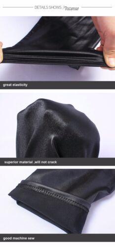 Ladies High Waist Faux Leather Leggings Pants Shiny Wet Look Full Length PVC