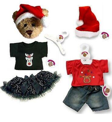 Teddy Bears Clothes fits Build a Bear Santa Helper BOY & GIRL Christmas Outfit