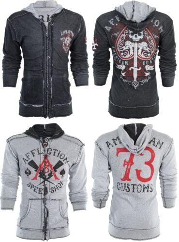 Hoodie Men Ufc Death Affliction Sweat Spade Reversible 98 Shirt Jacket Up Zip fgvvqx5ndO