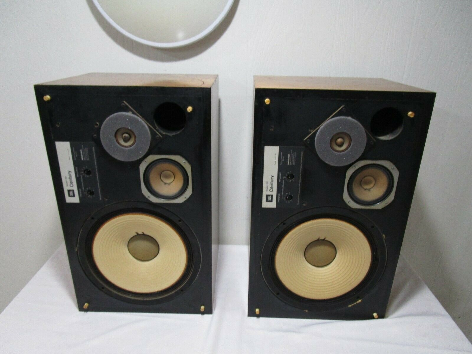 s l1600 - Vintage Pair of JBL L100 Century Speakers w/ Grille Frames #1 ---------