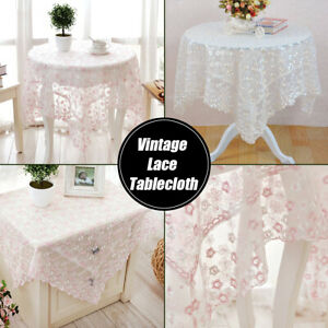 Embroidery-Floral-Lace-Tablecloth-Table-Cover-Dining-Room-Wedding-Party