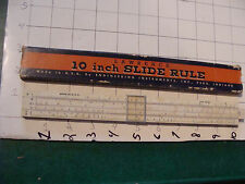 vintage SLIDE RULE: made in USA in box, pat. pending, #3 name written on back