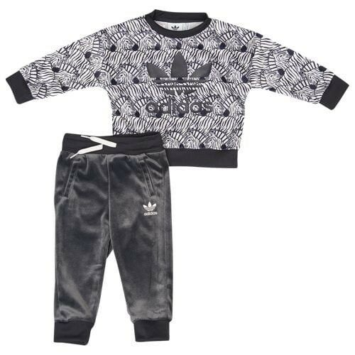 38dd7074b580 Baby Girls adidas Originals Zebra Crew Set Black   White 6-9 Months D98812  for sale online
