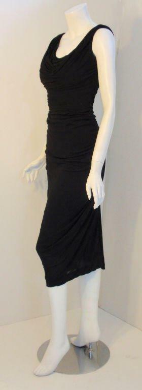 CEIL CHAPMAN 1940s Vintage Black Cocktail Dress - image 2