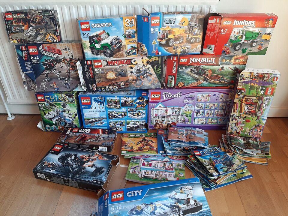 Blandet lego sortert i farver