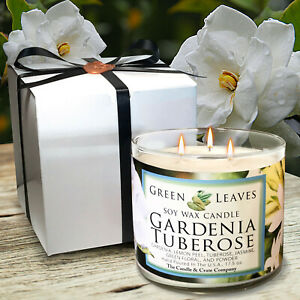 Handmade-Soy-Candles-that-smell-AMAZING-17oz-Highly-Scented-Gardenia-Tuberose