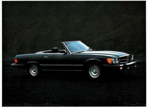 1980 Mercedes-Benz 240 280 300 450SEL 450SL 450SLC 64 Page Deluxe Sales Brochure