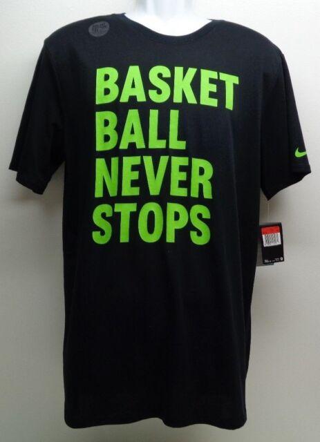 Nike Dri Fit T Shirt Basketball Never Stops Mens 2xl Xxl Ebay
