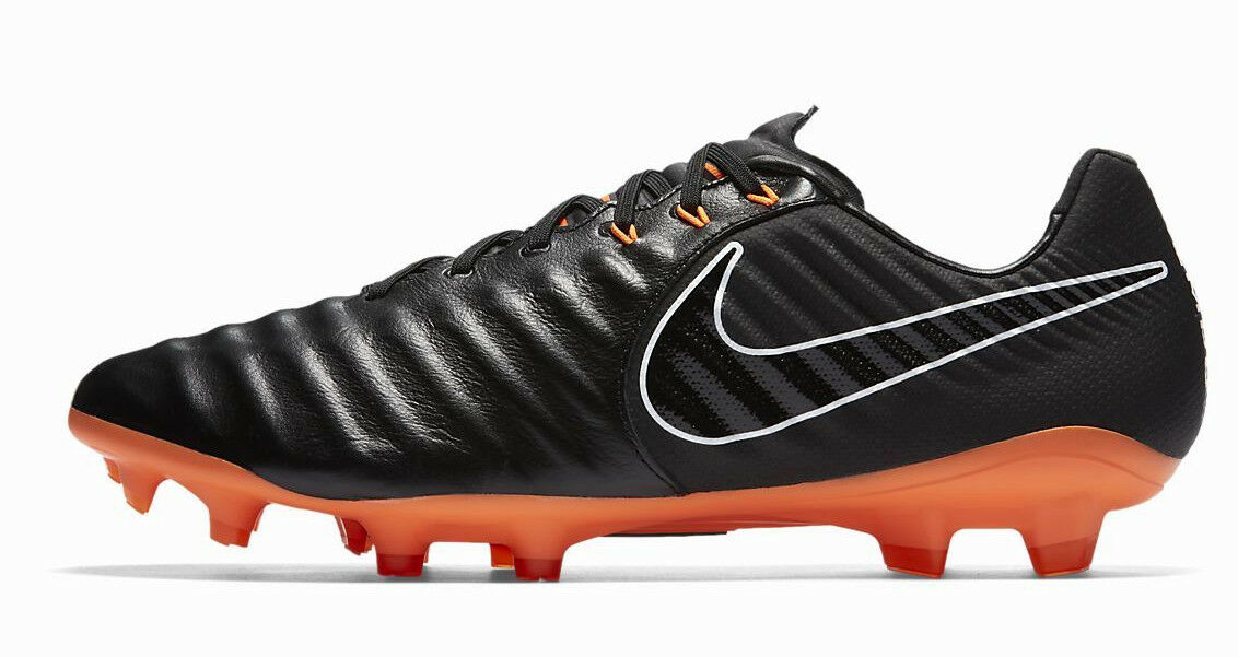 NIKE TIEMPO LEGEND VII PRO FG CLEATS BLACK SIZE 8.5 NEW W/BOX (AH7241-080)