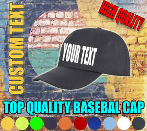 CUSTOM-BASEBALL-CAP-PERSONALISED-CUSTOMISED-HAT-TEXT-PHOTO-UNISEX-ADULTS