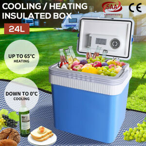 24L Camping Fridge Freezer Portable Ice Cooler CoolBox Insulated Cooling Heating