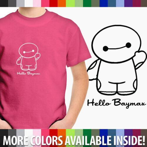 Toddler Kids Boy Girl Tee Youth T-Shirt Disney Big Hero 6 Hello Baymax Shirts