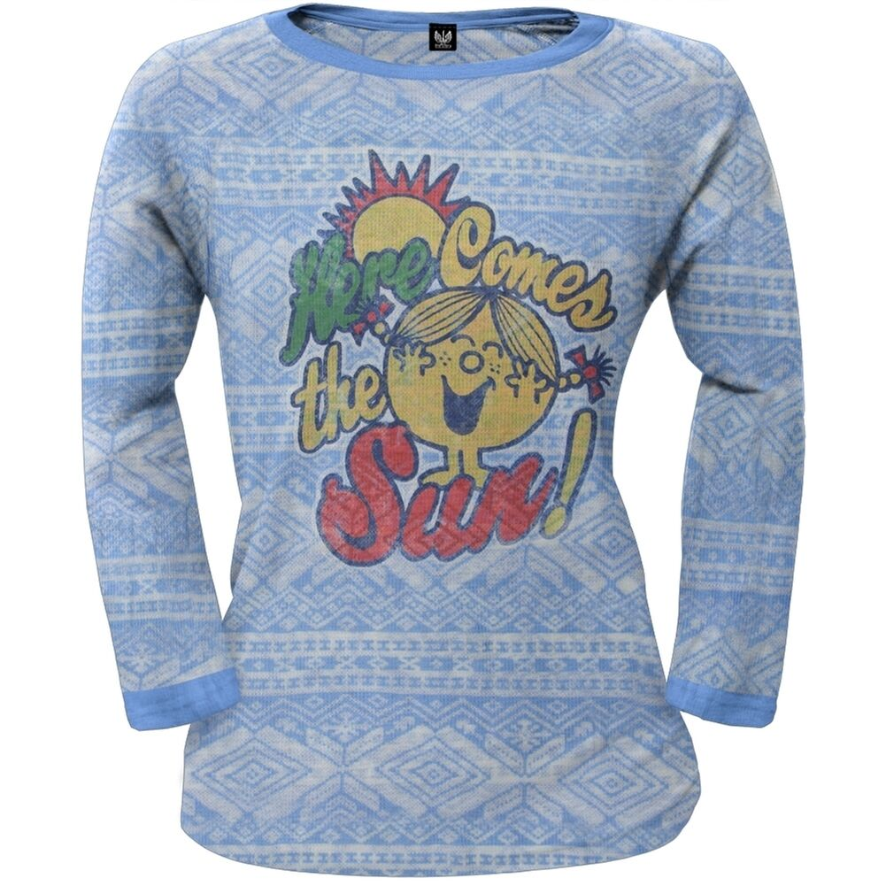 Little Miss - Here Comes Sun Juniors Diamond Print Thermal