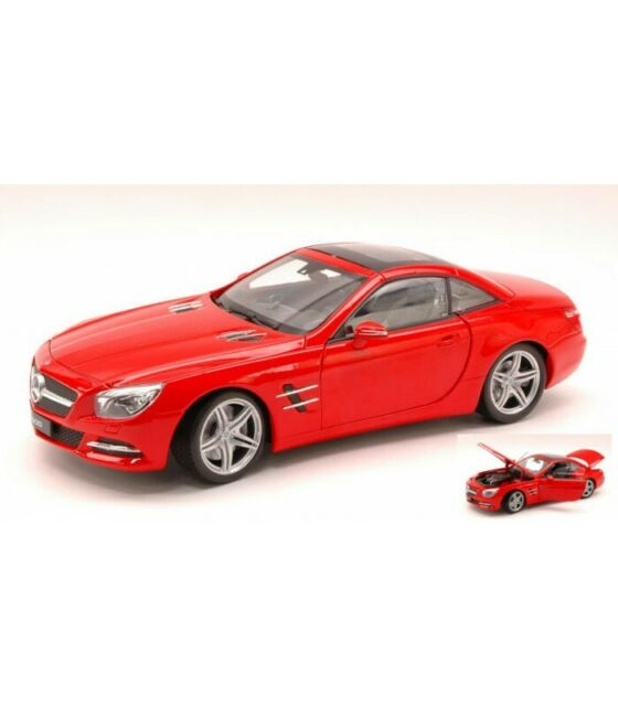 MERCEDES SL500 (R231) HARD TOP 2012 RED 1:18
