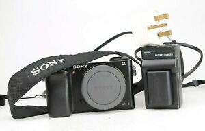 Sony-A6000-DSLR-Camera-Body-only-with-Battery-amp-Charger-6-218-Shots-EXC
