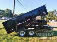 New 2021 7x16 7 X 16 14k Gvwr Hydraulic Dump Trailer Equipment Hauler 36 Sides