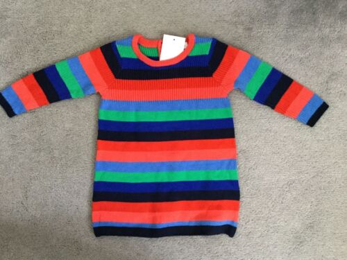 MATCHING LEGGINGS SOLD SEP NEXT COLOUR STRIPED COTTON KNIT DRESS -BNWT MULTI