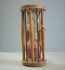 1870s RARE Wood Hourglass Sand Timer Hand Blown Glass