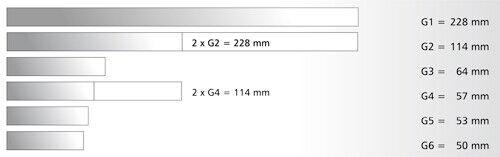 H0 Tillig 82129 Gerades Gleis G6 Länge 50 mm