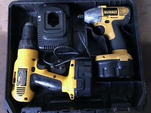 Image Is Loading Dewalt Impact Driver And Drill 14 4v Two