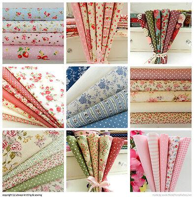 fat quarter bundles 100% cotton fabric vintage florals  Rose & Hubble