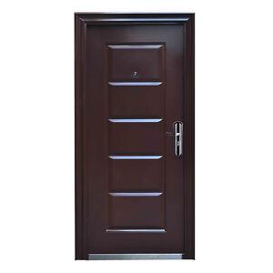 Wohnungstür sicherheitstür  Haustür Tür Wohnungstür Sicherheitstür 96 x 205 cm BRAUN DIN ...