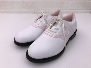 the latest 2c28b fe32d Image is loading Adidas-Z-Traxion-Pink-White-Lace-Up-Golf-
