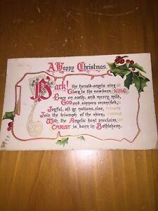 Vintage Postcard Tuck's Christmas Hymns Series Hark The Herald Angels Sing | eBay