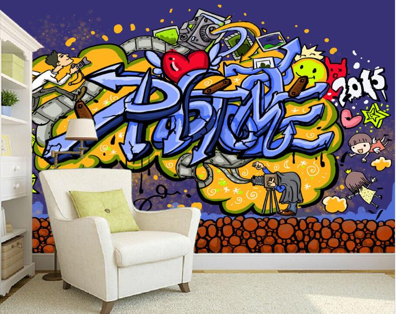 Papel Pintado Mural Vellón Dibujos Animados Creativos 2 Paisaje Fondo PanGröße