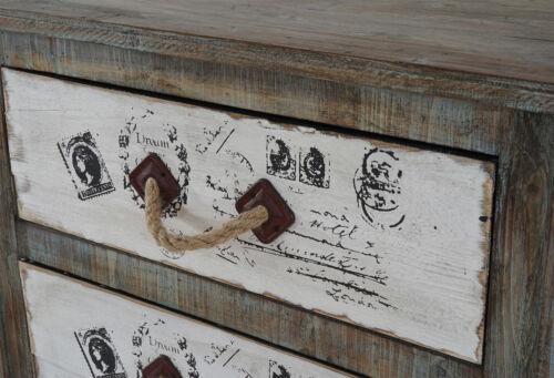 Kommode Aveiro Schubladenkommode Schrank Shabby-Look 80x72x33cm Vintage