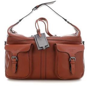 TED BAKER GANSU LEATHER HOLDALL DUFFLE WEEKEND TRAVEL BAG