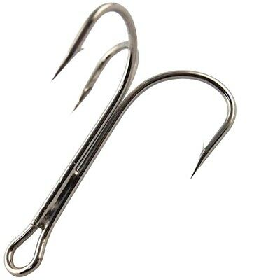 O/'Shaughnessy Treble Hooks Stainless Steel Big Game Sharpened Treble Fish Hooks
