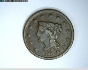 1841 Large Cent Braided Hair ( 68-295 5M/o )