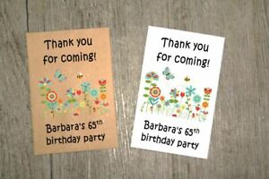 Image Is Loading 10 PERSONALISED SEED PACKETS 65TH BIRTHDAY PARTY BAG