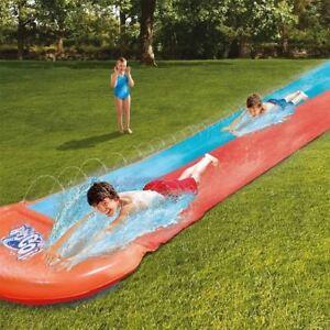 5.49m 18ft Bestway Outdoor Garden H2o Go Orange Single Slide