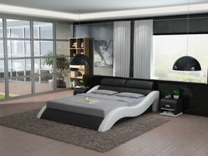 Leder Bett Design Polster Betten Luxus Doppel Modernes