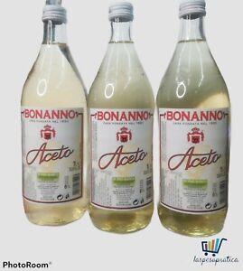 ACETO BONANNO DI vino BIANCO acidita' 6% lt.1x3 bottiglie in vetro