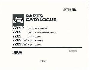 yamaha parts manual book 2002 yz85 yz85p ebay rh ebay com yamaha parts manual models g1 / 1982 Yamaha Audio USA