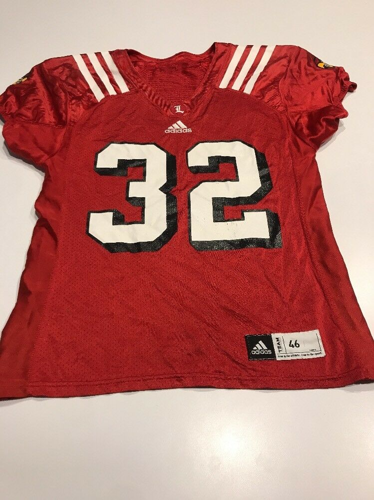 separation shoes e763d 2aa25 Game Worn Used Louisville Cardinals UL Football Jersey Adidas Adidas Adidas  Size 46 918238