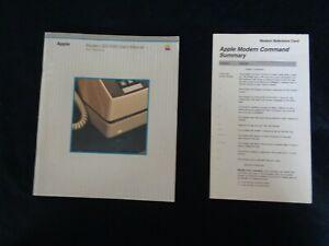 Vintage-1983-Apple-Computer-Modem-300-1200-User-s-Manual-030-0610-B-Reference