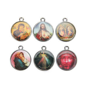 10Pcs-Holy-Catholic-Religious-Crosses-Enamel-Medals-Charms-Pendants-38mm