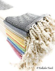 Set of 4 100% Turkish Cotton Hand Towel Kitchen Tea Dish Bathroom Towel