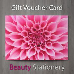 gift voucher beauty salon blank card coupon massage nail