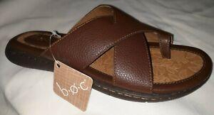 new-Born-Concept-BOC-women-039-s-BROWN-Slides-sandals-toe-loop-size-9-M