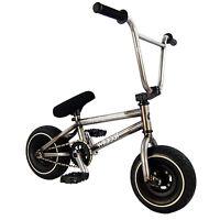 Wildcat Original Raw Frame Mini BMX Bike 3pc Crank Kids Adults Boys Freestyle