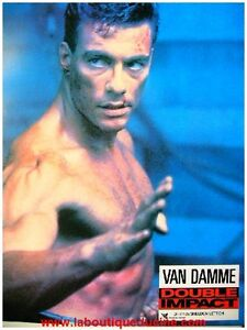 DOUBLE-IMPACT-Jeu-12-Photos-Cinema-French-Lobby-Cards-JEAN-CLAUDE-VAN-DAMME