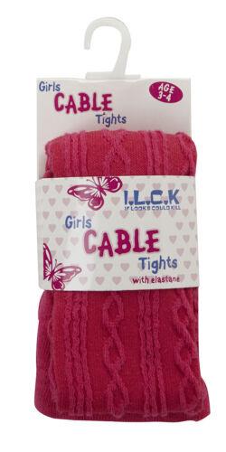 Filles i c.k Coton Riche Câble Collant Tricot avec Élasthanne 46B200 l