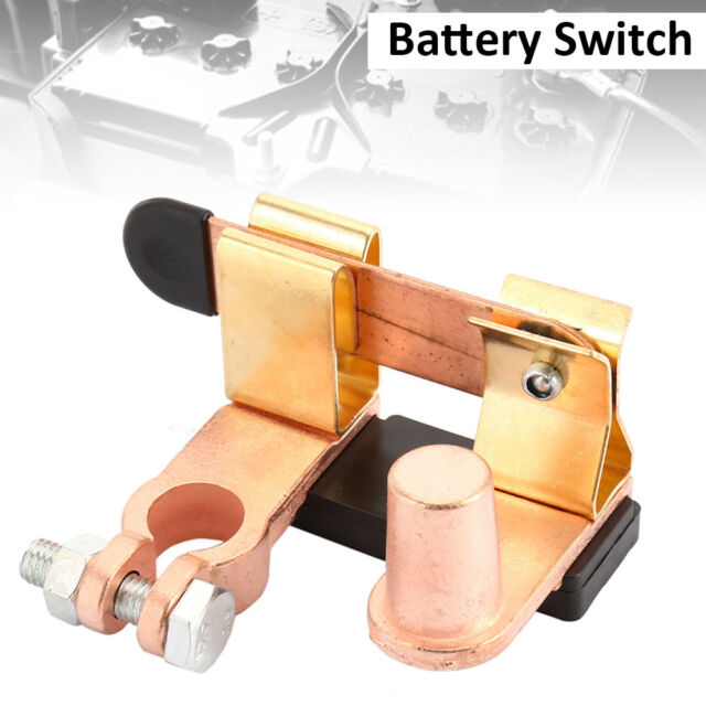 Car Van Boat Battery Isolator Switch Power Cut Off Disconnect Top Terminal Brass